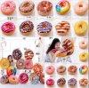 Coussin d'oreiller farci en peluche Donut
