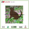 Hot Sale Couche de poudre de fer silhouette de chat pour le jeu et de la pelouse de la décoration de jardin