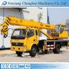 China utilizó la recolección del auge carro hidráulico móvil de la grúa de 10 toneladas con el chasis de Dongfeng