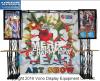 Стойка индикации будочки ферменной конструкции торговой выставки с 2 держателями TV и изготовленный на заказ графическим фоном