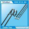 Laço de cabo de bloqueio de bola revestido de plástico de design especial Ss
