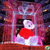 Indicatore luminoso di natale dell'orso 3D dell'orsacchiotto IP65 del LED 6m/8m