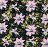 Tela impresa flor elegante tejida de la ropa del poliester