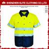 De fluorescente Groene Weerspiegelende Overhemden van het Werk van de Veiligheid (elthvsi-12)