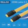 Support de câble plat de HDMI 2.0V 4k@60Hz, 18gpbs