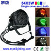 段階ライト、結婚披露宴のための屋外DMX 54*3W RGBW LEDの同価ライト