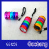 6LED Mini Aluminium Colorful Torch Flashlight
