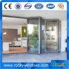 Vier Panel-Doppelverglasung-Aluminiumfalz-Tür