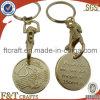주문 금 트롤리 동전 Keychain (FTTR2330J)