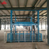 Vertikale hydraulische Führungsleiste-Aufzug-Waren, die Plattform laden