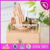 Подгоняйте коробку нот сбор винограда смешных игрушек поезда деревянную для малышей W07b053