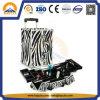 Caixa de cosméticos de alumínio profissional com bandejas para Salon Hb-1311
