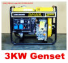 generatore di potere diesel stabilito di monofase prezzi diesel del generatore di 5kw 5kVA 3000W di buoni