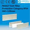 Big Power Axial Fan Ultra-Thin IP54 Classe Exit Filtro com Micro Fiber Non-Woven Filter Mat (FK6627)