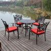 Reparto de aluminio al aire libre Muebles de jardín Patio Establecer mesas y sillas de metal
