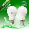 6W 8W E27plastic Lighting com o UL do CE SAA de RoHS