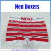 형식 Striped Red와 Black Sport Men Boxers