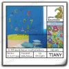 3D Glitter Multilayer Wall Sticker para Child Dd009