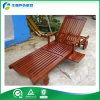 Ocioso de madera rodado de Sun del jardín con la cama plana puesta madera de Sun de la bandeja de las bebidas (FY-015CB)