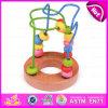 Giocattolo di legno del labirinto del cubo intelligente del gioco 2015, giocattolo di legno del labirinto del branello dei bambini educativi, giocattolo di legno W11b066 del labirinto del cubo di attività di DIY