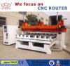 Router de madeira do CNC, máquina de cinzeladura de madeira do CNC de 5 linhas centrais para os pés da tabela dos pés do sofá