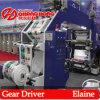 Belt Drive- Machine d'impression Flexo haute vitesse à 6 couleurs (série CJ886)