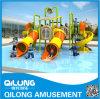 Campo de jogos comercial plástico da corrediça de água (QL-150707C)