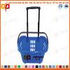 Gute Qualitätssupermarkt-Plastikeinkaufskorb mit Fußrollen (Zhb13)
