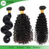 Extensões brasileiras pretas naturais não processadas do cabelo humano do cabelo do Virgin