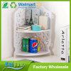 2 gradas impermeabilizan el estante de la esquina tallado hueco blanco del almacenaje