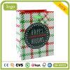 Form-Feiertags-Grün-Rasterfeld-Kunst-überzogene Geschenk-Papiertüten