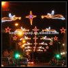 La DEL à travers le motif de rue illuminent l'éclairage pour l'éclairage routier de Diwali