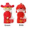 Дешевые Китай жених невеста стиле накопитель USB