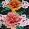Flor del bordado para el paño