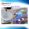 Crystal Clear dos piezas de resina epoxi epoxi transparente para el revestimiento de piso en 3D.