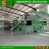 La picadora de papel doble del eje para reciclar el desecho puede/estaño/bolso tejido