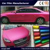 Larghezza adesiva del vinile 1.52m di vendita della Rosa del bicromato di potassio del ghiaccio della pellicola dell'involucro opaco rosso caldo dell'automobile