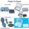 Comercio al por mayor varía de plástico de los diseños de anzuelos de pesca, pesca con mosca moscas, los cuadros de abordar el terminal 09A-H0409, H0408, H0508, H1007