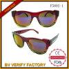 Occhiali da sole di plastica su ordinazione colorati lucidi F5892-1