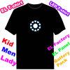 Clignotant Iron Man 1 T-Shirt Tissu Electroluminescent Tissu Ef229