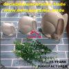 dB1086白いイースターの簡単な陶磁器のバニーウサギグループの庭の置物の彫像の装飾