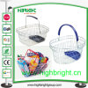 Wire Cosmetic Shopping Basket with Plastic Holder
