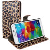 Arrival novo Leopard Wallet Filp Leather Caso para Samsung Galaxy S5 I9600