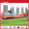 3 ejes 50-60 toneladas de fugas de neumáticos semi remolque de camiones Lowboy Lowbed
