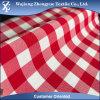 Tela del uniforme escolar del modelo del tartán del estiramiento del Spandex del poliester del algodón