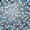 """5/8pol X5/8"""" Color misturados mosaico da parede de vidro painel contra salpicos"""
