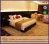 아시아 알루미늄 0707 현대 우아한 힐튼 호텔 가구는 직물 까만 호화스러운 오크 높은 광택 특대 침실 세트를 간단하게 한다