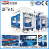 Linha de produção automática de blocos de concreto / máquina de bloco Qt9-15
