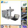 Fibra 20W / 30W / 50W Máquina de marcação a laser com mini-metal portátil PE PVC Gravura em plástico