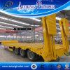 Semitrailer da base de 3 eixos baixos/reboque de Lowboy para o transporte da máquina